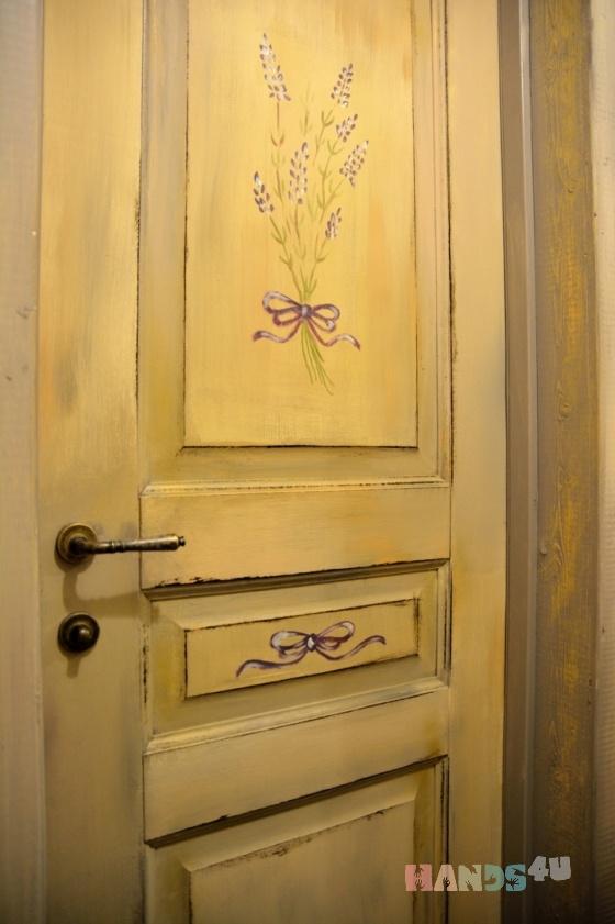 Купить межкомнатная дверь  прованс, Двери, Декор поверхностей ручной работы. Мастер Михаил Голованёв (forrins) . прованский стиль
