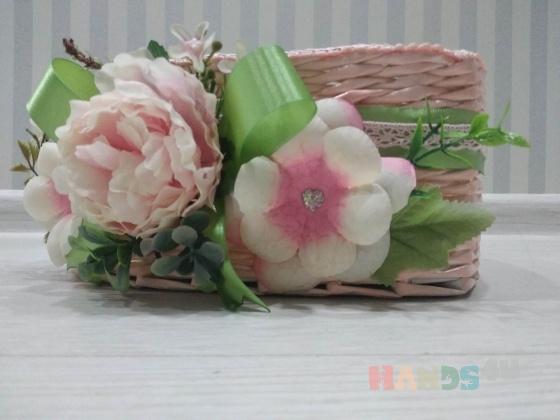 Купить Плетёное сердце, Сувениры и подарки ручной работы. Мастер Полина Стахова (PolinaNik) . корзина