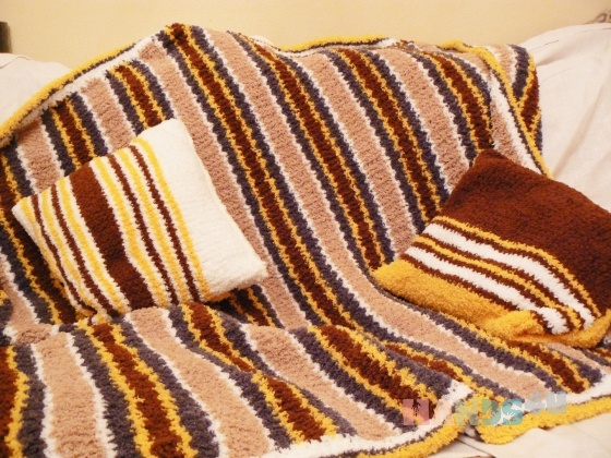 Купить Плед и подушки, Вязаные, Пледы и покрывала, Текстиль, ковры, Для дома и интерьера ручной работы. Мастер Юлия Матросова (matrosova) . вязаный плед