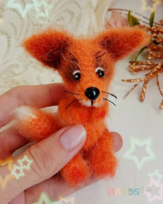 Купить Лисичка, Другие животные, Зверята, Куклы и игрушки ручной работы. Мастер Анна Приходько (APrikhodko89) . вязаная лиса