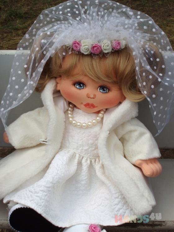 Купить Невеста, Текстильные, Коллекционные куклы, Куклы и игрушки ручной работы. Мастер  ****** (Nadezhda-SPB) . кукла