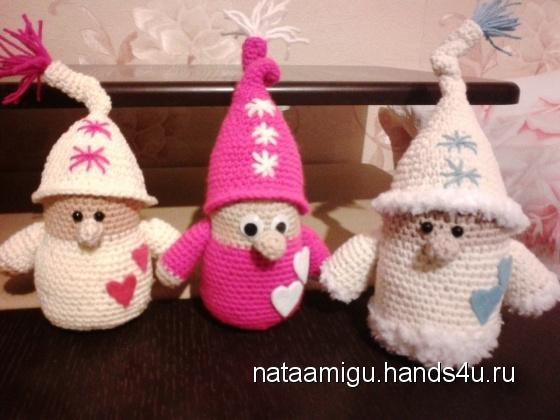 Купить Гномики, Амигуруми, Миниатюра, Куклы и игрушки ручной работы. Мастер Наталия Беленко (Nataamigu) . пряжа акрил