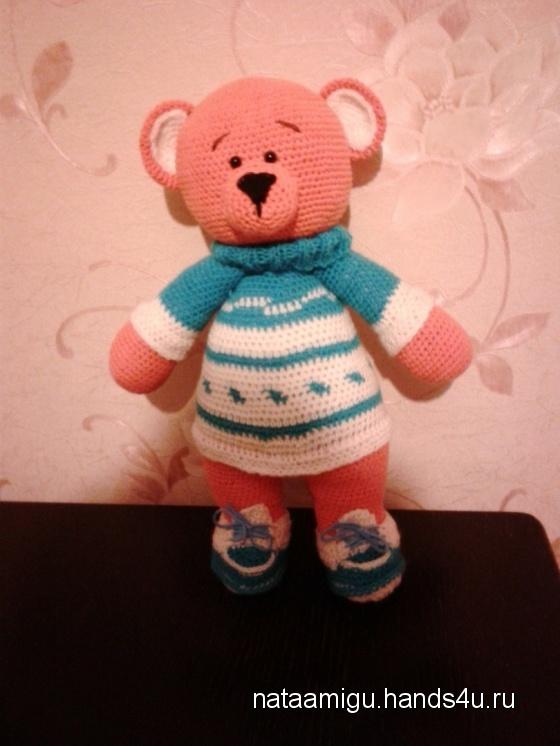 Купить Мишка в свитере, Амигуруми, Миниатюра, Куклы и игрушки ручной работы. Мастер Наталия Беленко (Nataamigu) .