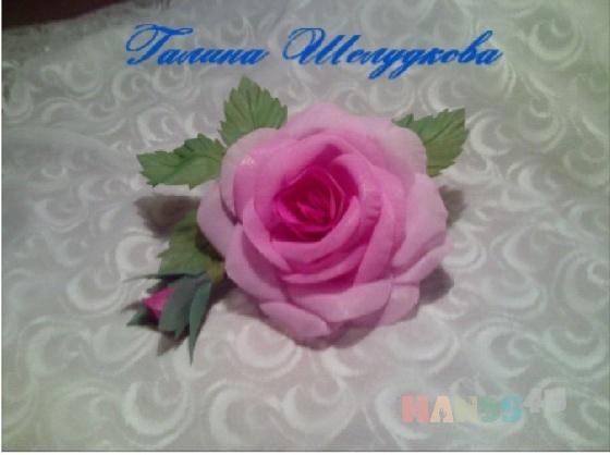 Купить Роза, Текстильные, Броши, Украшения ручной работы. Мастер Галина Шелудкова (Galka2014) . цветы из ткани