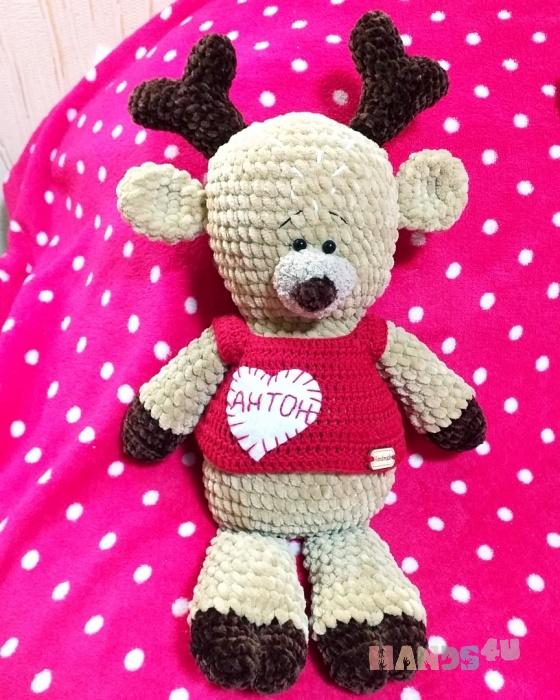Купить Оленёнок , Другие животные, Зверята, Куклы и игрушки ручной работы. Мастер Анастасия Шанина (Asiya02) . плюшевая пряжа