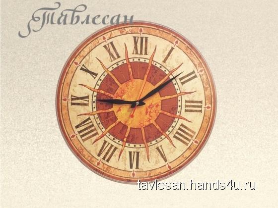 Купить Часы настенные Солнце Италии круглые терракота, Настенные, Часы для дома, Для дома и интерьера ручной работы. Мастер Светлана Тавлесан (Tavlesan) . настенные часы