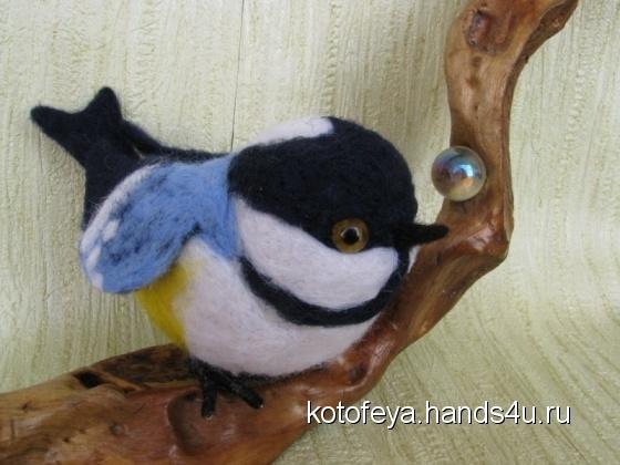 Купить Синица в руке, Птицы, Зверята, Куклы и игрушки ручной работы. Мастер   (KotoFeya) . интерьерная игрушка
