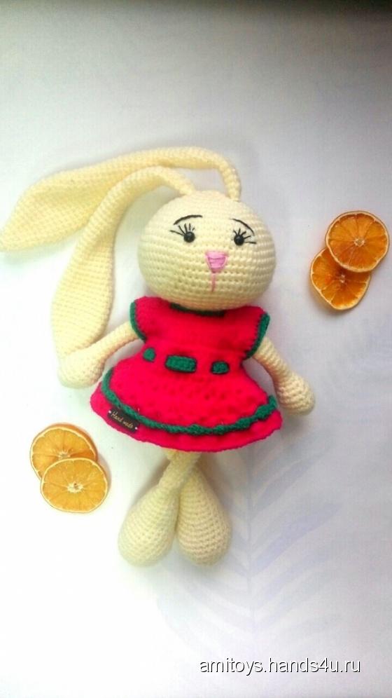 Купить Ушастый заяц, Зайцы, Зверята, Куклы и игрушки ручной работы. Мастер Елизавета Базовкина (Amitoys) .
