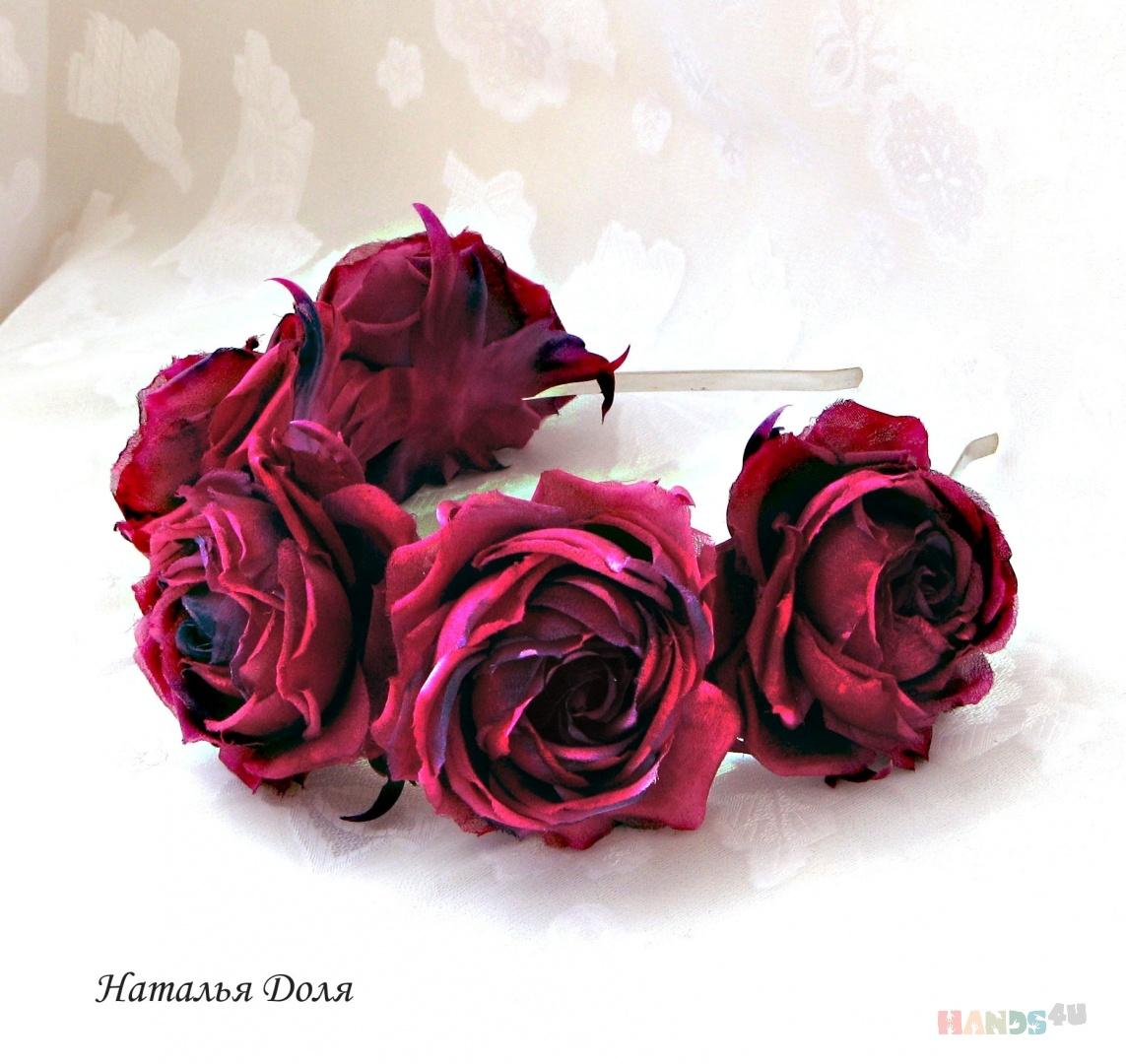 Розы текстильные купить почтовая доставка цветов в любой район