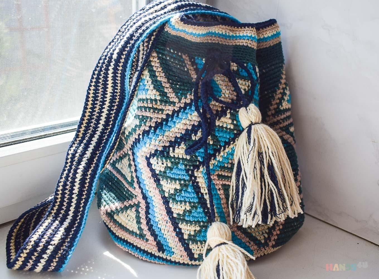 5de73ce56138 Колумбийская мочила ID 13811, Вязаные, Пляжные, Женские сумки, Сумки ...