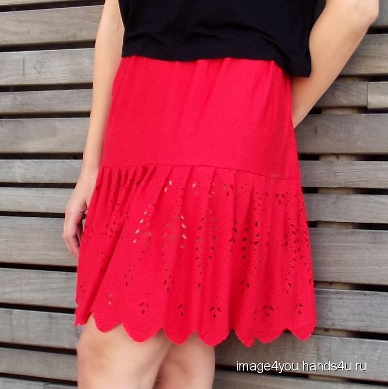804748d0241 Трикотажная летняя юбка Ламбада Купить Трикотажная летняя юбка Ламбада