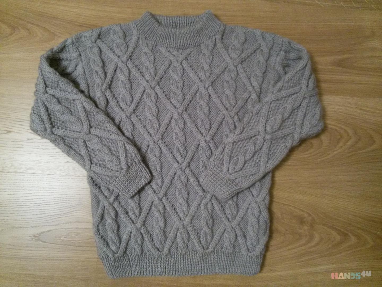 вязаный спицами свитер для мальчика 7 11 лет Id 12567 свитера