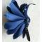 Купить Брошь - Синяя птица, Текстильные, Броши, Украшения ручной работы. Мастер Татьяна Никитина (Tatiyana) . атласная ткань