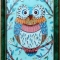 Купить Витражная картина Мятная совушка, Животные, Картины и панно ручной работы. Мастер Ирина  (ellu) . картина для интерьера
