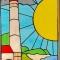Купить витраж в окно, Витражи, Элементы интерьера, Для дома и интерьера ручной работы. Мастер Инна Исупова (InnaIs) . ручная работа handmade