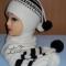Купить Зимний комплект для мальчика (шапочка двойная), Шапочки, шарфики, Одежда унисекс, Работы для детей ручной работы. Мастер Ольга  (Nito4ka) . вязаный комплект