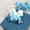 Купить Брошь голубая вышитая бисером с элементами плетения Заячьи ушки , Вышивка, Бисер, Броши, Украшения ручной работы. Мастер Ольга  (BROSHCLUB) . брошь из бисера для девушки