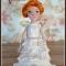 Купить Текстильная куколка Анна, Текстильные, Коллекционные куклы, Куклы и игрушки ручной работы. Мастер Наталья Ямалетдинова (Natsha) . будуарная кукла