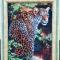 Купить Картина вышитая бисером Леопард, Животные, Картины и панно ручной работы. Мастер Валентина Большакова (valenkreatif) . интерьерная картина