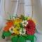 Купить Корзина цветов, Смешанная техника, Интерьерные композиции, Цветы и флористика ручной работы. Мастер Мария Коровина (MariKa) . купить подарок девушке