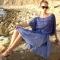 Купить Туника-блуза Аромат бриза, Блузки, Одежда ручной работы. Мастер Лариса Коган (image4you) . туника голубая