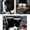 Купить гетры черно-белые Травка, Гетры, Носки, Чулки, Аксессуары ручной работы. Мастер Юлия  (made-by-jr) .