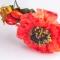 Купить Обруч с красным цветком, Диадемы, обручи, Украшения ручной работы. Мастер Виктория Лемеш (VictoriaDLys) . уникальное украшение
