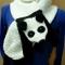 Купить Шарф  Панда , Шарфы, шарфики и снуды, Аксессуары ручной работы. Мастер Дарья Амплеева (Darya-32) . шарф