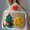 Купить Вязаная ёлочная игрушка Пряничный домик, Елочные украшения, Новый год, Подарки к праздникам ручной работы. Мастер Ольга Ершова (olka25) . на новый год