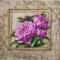 Купить Пионы в вышитой раме, Картины цветов, Картины и панно ручной работы. Мастер Маргарита Милова (Margo-rita) . интерьерная картина