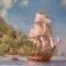 Купить Мозаичная картинаПарусник, Пейзаж, Картины и панно ручной работы. Мастер Сергей Брагин (bragins67) . стеклянная мозаика