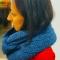 Купить Вязаный синий снуд, Женские, Шарфы, шарфики и снуды, Аксессуары ручной работы. Мастер Ольга Ершова (olka25) . женский снуд