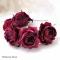 Купить Ободок с розами из шелка Red Baroness Цветы из ткани, Текстильные, Диадемы, обручи, Украшения ручной работы. Мастер Наталья Доля (fineflower) .