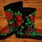 Купить Угги Хохлома, Обувь ручной работы. Мастер Анастасия Аникеева (anastasiya) . зимняя обувь