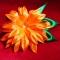 Купить Цветок заколка-брошь из атласной ленты, Украшения ручной работы. Мастер Татьяна  (Hosta) . цветок заколка