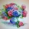 Купить Гортензия, Картины цветов, Картины и панно ручной работы. Мастер Татьяна  (Gatita) . 100 хлопок