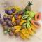 Купить Счётный игровой набор Тропические фрукты и овощи (55 предметов), Развивающие игрушки, Куклы и игрушки ручной работы. Мастер Юлия Коцюба (julkich) . коллекционирование