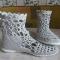 Купить Вязаные ботиночки, Летняя обувь, Обувь ручной работы. Мастер Надежда Зыбина (89293221436) . эксклюзив