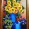 Купить Картина лентами Подсолнухи, Натюрморт, Картины и панно ручной работы. Мастер   (lentami) .