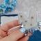 Купить Брошь голубая вышитая бисером с элементами плетения Заячьи ушки , Вышивка, Бисер, Броши, Украшения ручной работы. Мастер Ольга  (BROSHCLUB) . брошь ушки