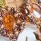 Купить Серьги из бисера и янтаря Янтарные, Плетение, Бисер, Серьги, Украшения ручной работы. Мастер Яна Новикова (Ya-na) . оранжевый