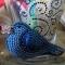 Купить Брошь Синяя птичка, Вышивка, Бисер, Броши, Украшения ручной работы. Мастер Анастасия  (Brooch-shop) . брошь из бисера