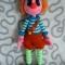 Купить Клоун Мотя, Вязаные, Человечки, Куклы и игрушки ручной работы. Мастер Юлия  (July) . кукла игровая