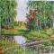 Купить Картина вышитая бисером В краю березовом, Пейзаж, Картины и панно ручной работы. Мастер Валентина Большакова (valenkreatif) . картина в интерьер