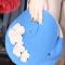 Купить Оригинальная женская сумка из фетра Roxy(с цветами), Смешанная техника, Вечерние, театральные, Женские сумки, Сумки и аксессуары ручной работы. Мастер / Feltterra Фельттерра (feltterra) .