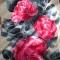 Купить Алые розы, Женские, Шарфы, шарфики и снуды, Аксессуары ручной работы. Мастер Надежда Ненахова (NNad) . батик шарф