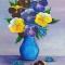 Купить букет Виол, Картины цветов, Картины и панно ручной работы. Мастер Алла Новикова (mammi5) . виола