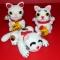 Купить Счастливые японские коты, Для дома и семьи, Обереги, талисманы, амулеты, Фен-шуй и эзотерика ручной работы. Мастер Елена Пичугина (Lencho) . вязаная игрушка