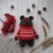 Купить Вязанный гималайский медведь Ванька, Мишки, Зверята, Куклы и игрушки ручной работы. Мастер Михаил Косарев (HandmadeEkb) .