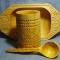 Купить Набор деревянной посуды, Посуда, Русский стиль ручной работы. Мастер Николай Ванюшин (waniwi) . геометрическая резьба